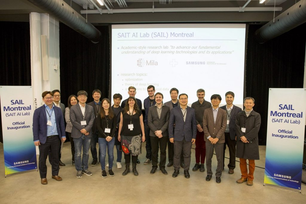 Photo - inauguration SAIT AI Lab Montréal